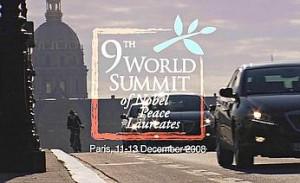 Il logo del summit dei premi Nobel per la pace